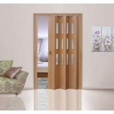 Дверь раздвижная ПВХ Дуб старый Фаворит со стеклом