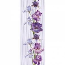 Ирис цветок пласт.панель (2700-250*9) (10шт/уп) 349