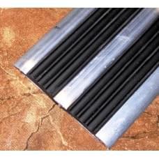 Профиль алюминиевый с двумя противоскользящими резиновыми вставками