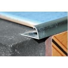 Профиль под кафельную плитку гнущийся ПК-04 ЛУКА - анод серебро