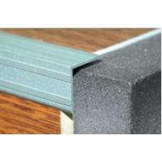 Уголок алюминиевый - накладка на ступеньку ПУ-05 ЛУКА - анод серебро