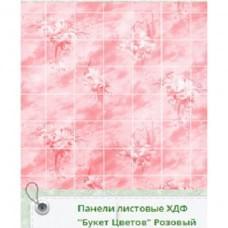 Панель RS Рустованная Букет Розовый 1220*2440*3мм