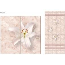 Лилии панель ПВХ декор, фон