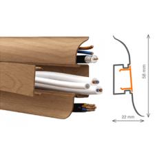 Плинтус ПВХ c мягким краем и кабель-каналом Tplast (58мм)
