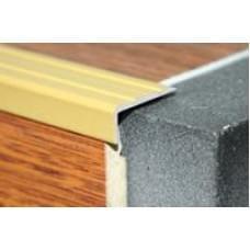 Уголок алюминиевый - накладка на ступеньку ПУ-01 ЛУКА - анод золото